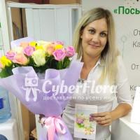 Доставка разноцветных роз в Усмань